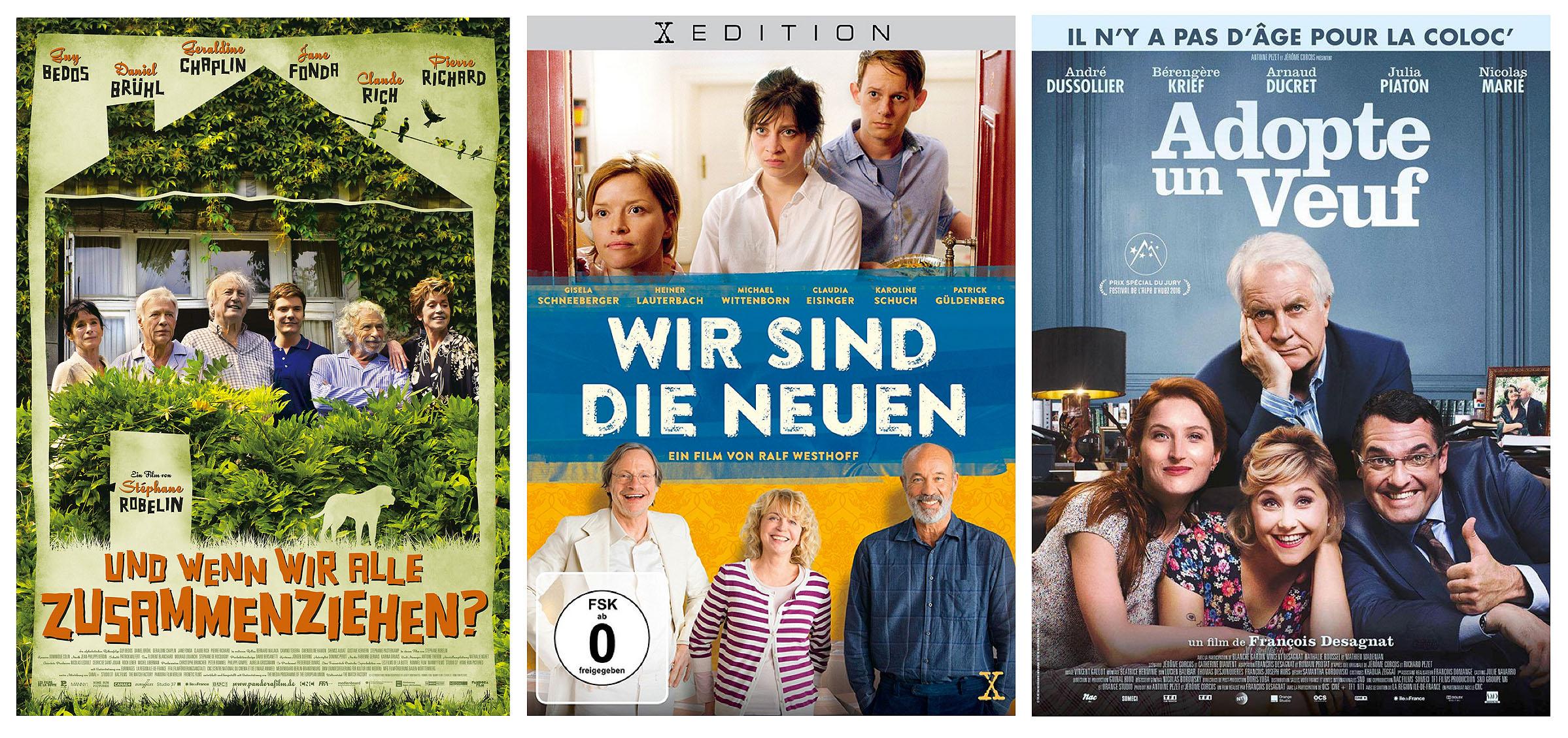 Filme über Alten WGs (DVD-Covers)