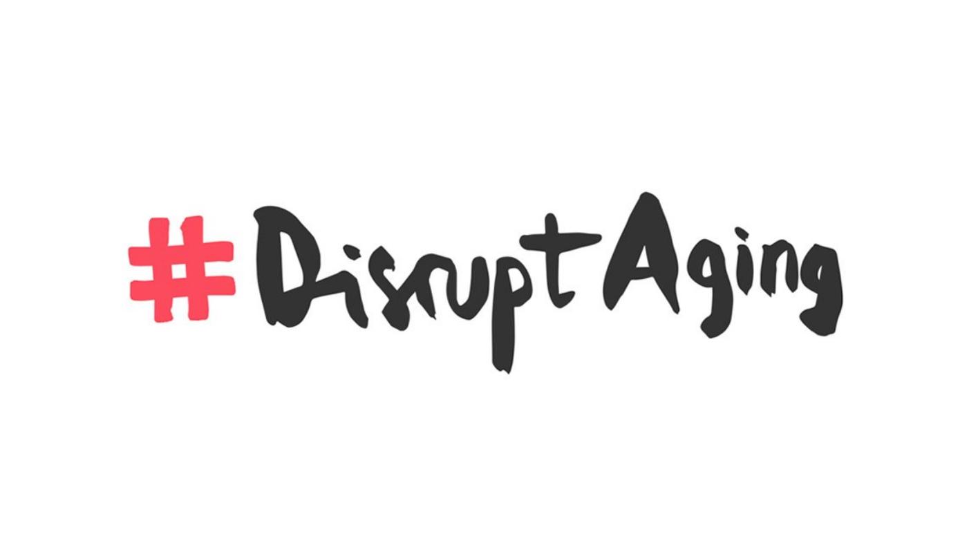 """Screenshot des Hashtags """"Disrupt Aging"""""""
