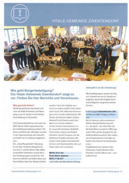 Zwentendorfer Rathauspost März 2019 Seite 1