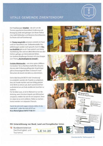 Zwentendorfer Rathauspost März 2019 Seite 2