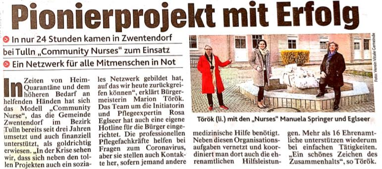 Artikel Kronen Zeitung 25.03.2020