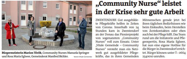 Artikel Bezirksblatt NÖ 25.03.2020